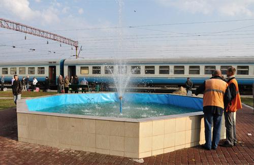 Новий фонтан прикрасить місцевий залізничний вокзал