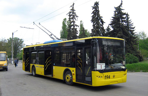 ЛАЗ-Е183 у Кременчуці, придбаний у 2008 році