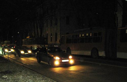 У Полтаві гірлянда зупинила рух тролейбусів