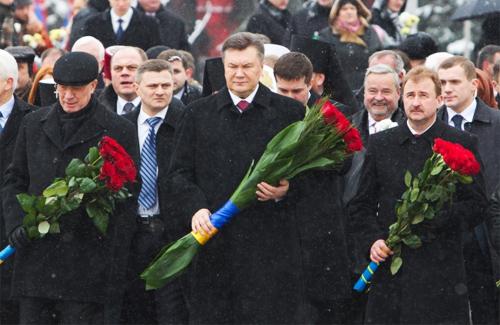 Віктор Янукович на урочистостях з нагоди Дня Соборності та Свободи