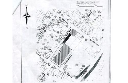 Заштриховані ділянки потрібно продавати тільки через аукціон, тому що там немає об'єктів нерухомості