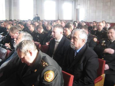 Холоднеча не завадила полтавським МНСникам підбити підсумки роботи за 2011 рік