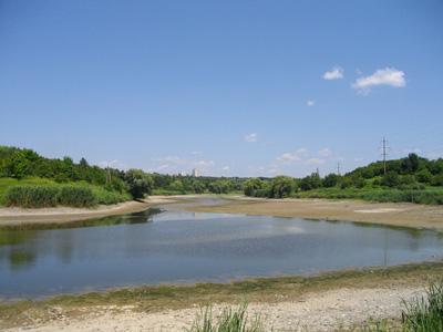 Шилівський ставок після руйнування греблі