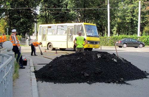 Ремонт доріг у Полтаві