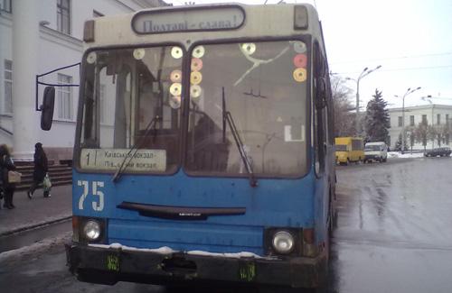 У ДТП в Полтаві постраждав електротранспорт