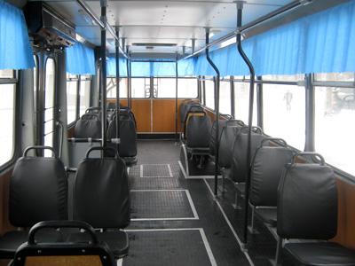 Салон капітально відремонтованого тролейбусу