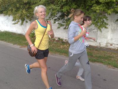Полтавчане устроили утреннюю пробежку в 9 километров