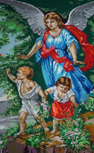 Вышитая картина «Двое детей у обрыва (Ангел-хранитель)»