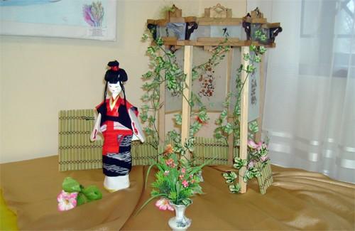 Лялька Японії, колективна робота. Гурток «Дивний світ оригамі»