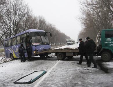 Автобус из Кишинева попал в ДТП под Полтавой