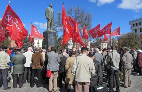 Полтавские коммунисты отметили годовщину со дня рождения Ленина