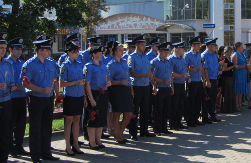 Міліціонери вшанували пам'ять загиблих колег