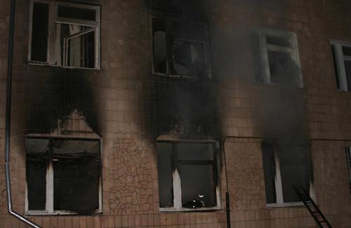 Відділення Новосанжарської районної лікарні  яке постраждало від вогню