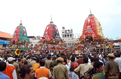 Святкування «Ратха-ятри» у Індії