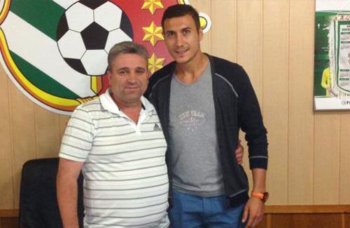 Адис Яхович с генеральным директором ФК «Ворскла» Дмитрием Яворским