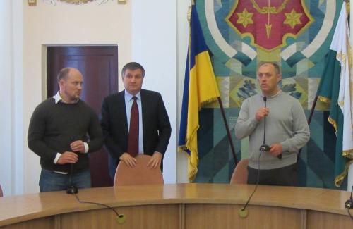 Сергей Каплин, Арсен Аваков и Александр Мамай