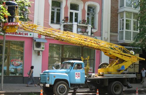 Автомобиль полтавского «Горсвета»