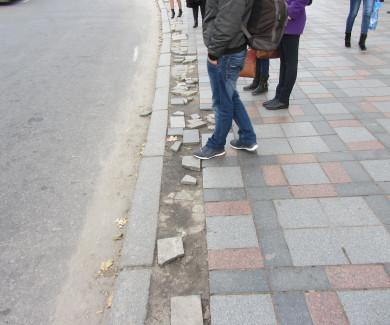 Тротуар біля кінотеатру ім.Котляревского