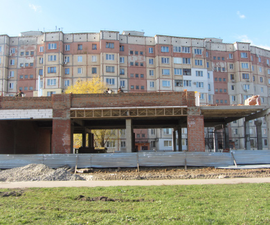 Стройка на пересечении улицы Ленина и проспекта Мира