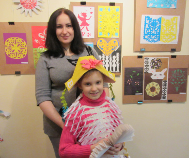 Анастасія з мамою Наталією