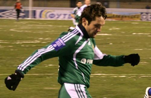 Денис Кулаков в матче с «Закарпатьем»