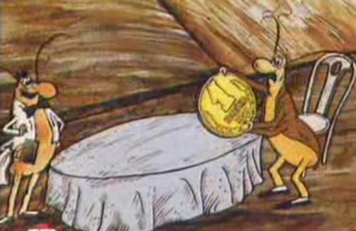 Кадр з мультфільму «Таракан», 1988