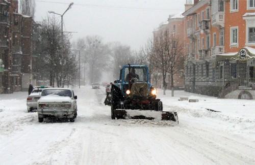 Хуртовини, які вирують у південних та східних областях України, дісталися і Полтави