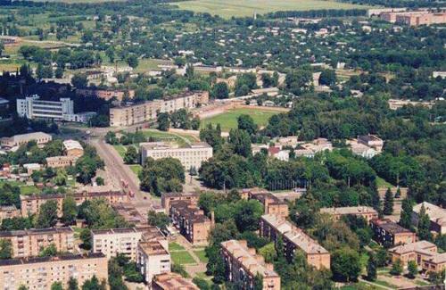 Конотоп. Вид с высоты птичьего полёта. Центр города.