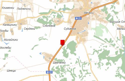 ДТП на автодороге между селами Судиевка и Шевченки