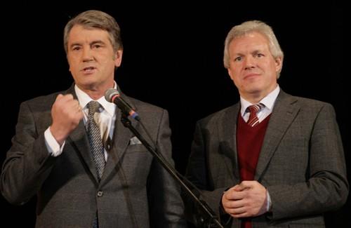 Виктор Ющенко и Валерий Асадчев