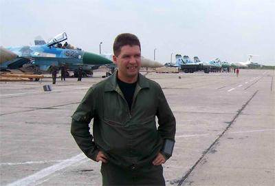Полковник Олег Гесь, ТВО командира авіаційної бригади. Настрій відповідає результату польотів
