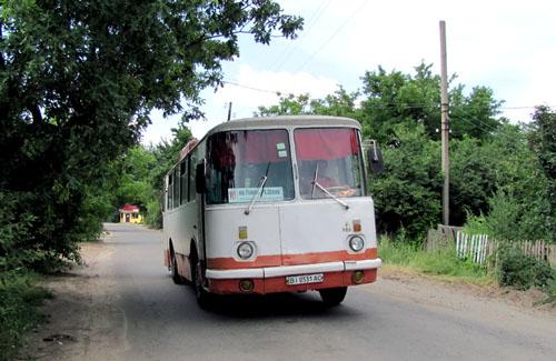 Автобус ЛАЗ 10-го маршруту