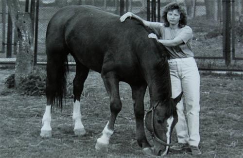 Ганна Скабард зі своїм улюбленцем Дарлінгом