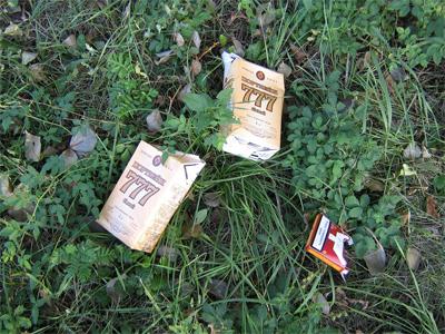 Сміття в Полтавському дендропарку