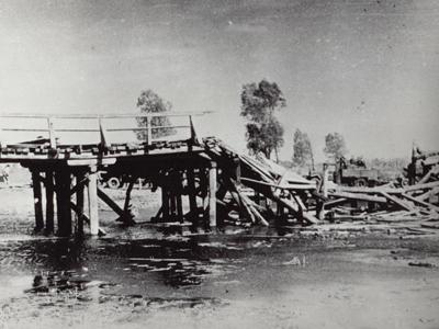 Взорванный мост через Ворсклу