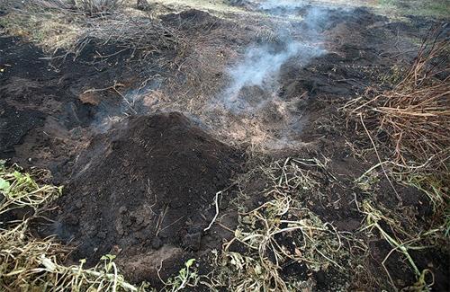Борьба с торфяными пожарами на Полтавщине продолжается