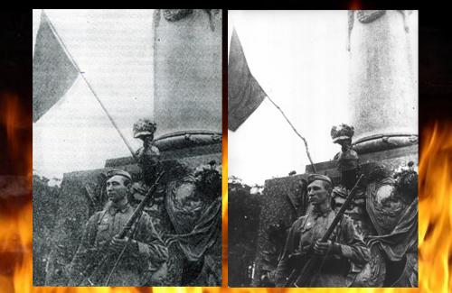 Флаги Победы над Полтавой и советская ретушь событий