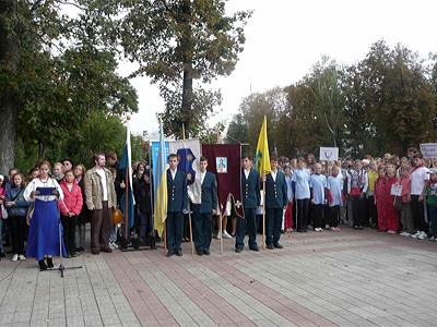 Відбувся міський етап фестивалю «Козацький гарт» та військово-спортивної гри «Сокіл»
