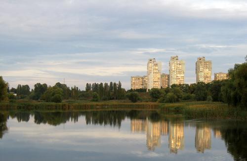 Вид на Огнивку от Пушкаревских прудов
