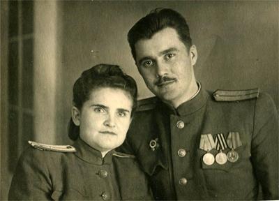 Ксения Федоровна c мужем