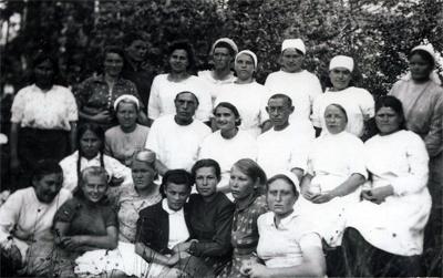 Полевой госпиталь. Старое фото