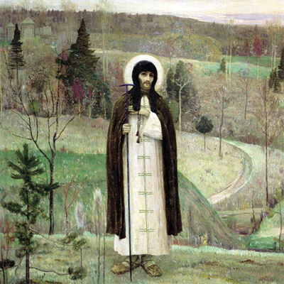 Преподобный Сергий Радонежский (Михаил Нестеров, 1899)