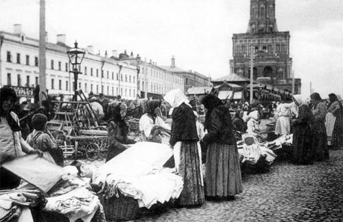 Сухаревский рынок, г. Москва. 20-е года.