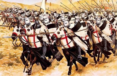 Атака кавалерии тамплиеров (середина 13 века)