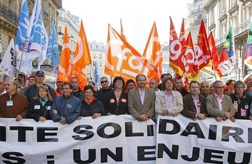 Забастовка профсоюзов во Франции