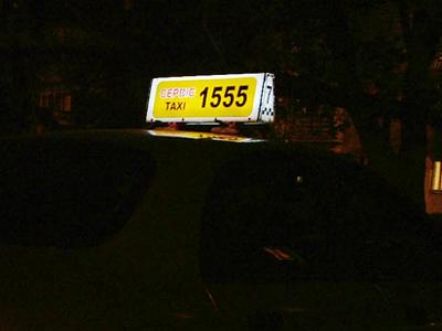 Лайтбокс на крыше такси («фишка») подсвечен светодиодами