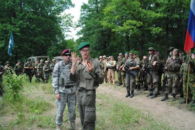 Тренировка полтавских страйкболистов на полигоне «Вакуленцы»