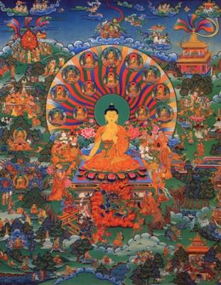 Лхабаб Дуйсэн — нисхождение Будды с неба Тушита на Землю