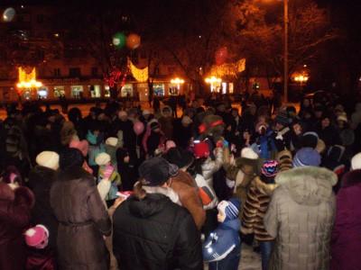 Святкування Нового року на Театральній площі у Полтаві