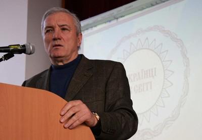 Петро Ющенко читає лекцію в Полтавському національному педагогічному університеті
